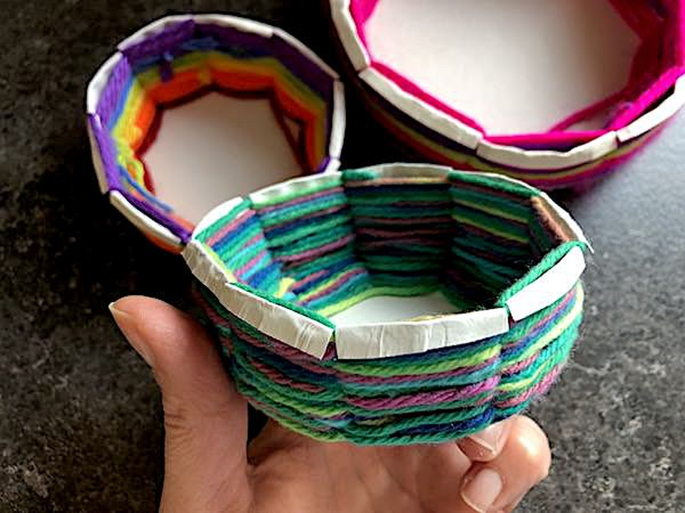 Basged plât papur | Paper plate basket