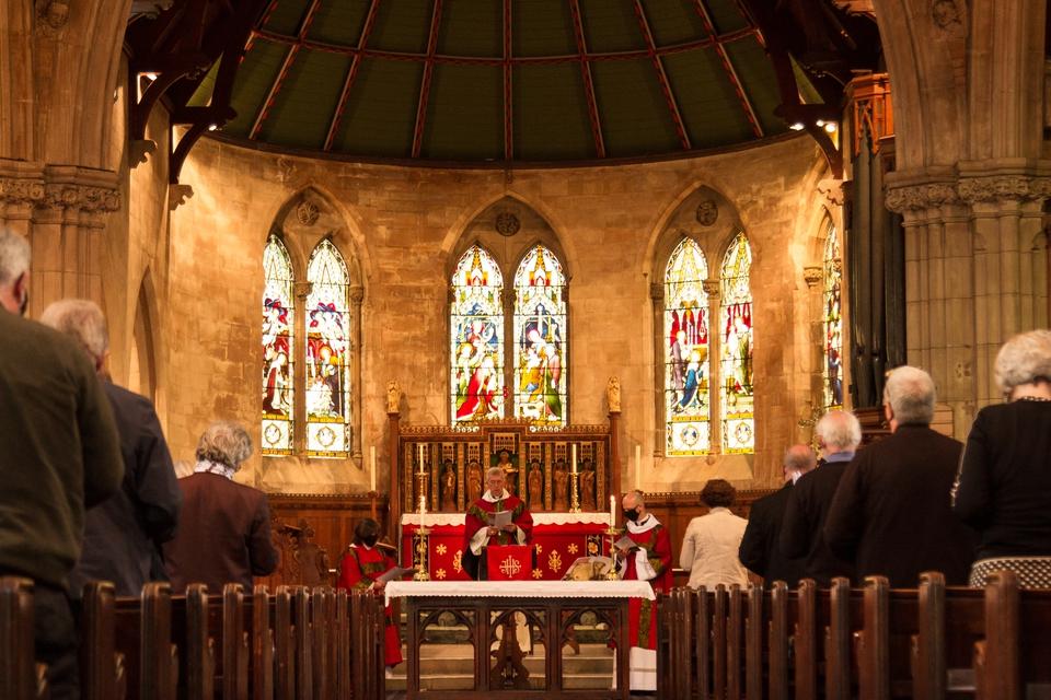 The Bishop presiding at the Eucharist